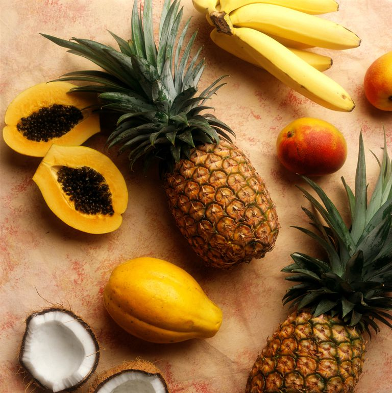 mango papaya pineapple banana