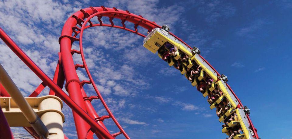 Big Apple roller coaster at New York New York Casino Las Vegas