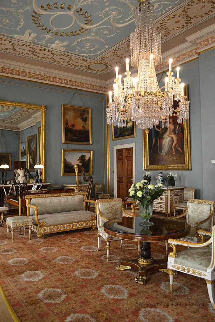 English Country House Drawing Rooms: An English Country House And Deer