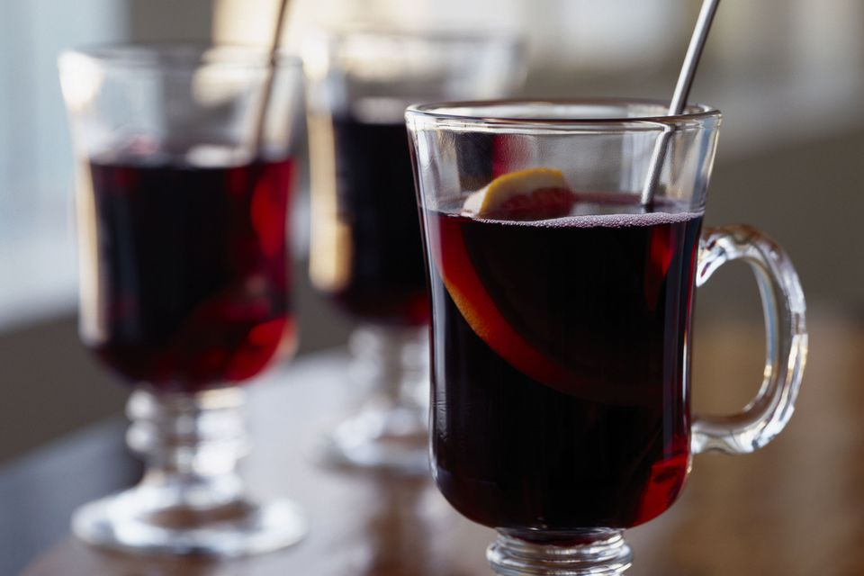 Mulled Spiced Cheribundi - Warm Bourbon and Cherry Drink