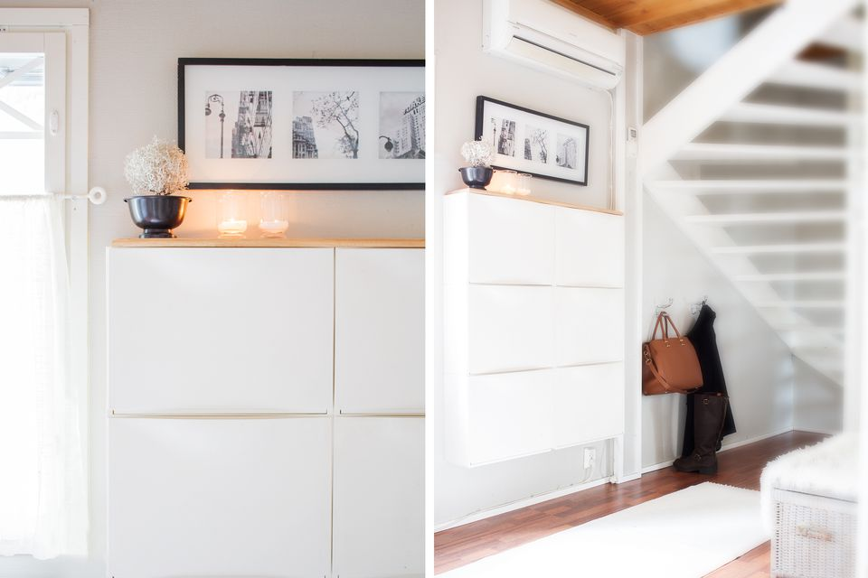 15 ikea hacks for small entryways. Black Bedroom Furniture Sets. Home Design Ideas