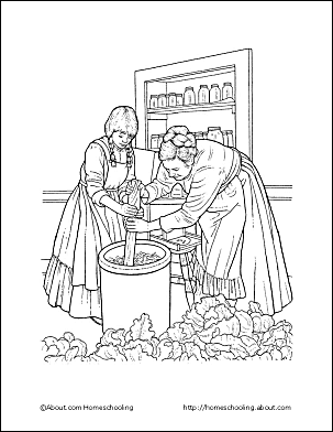 Pioneer children coloring pages sketch coloring page for Lds pioneer coloring pages