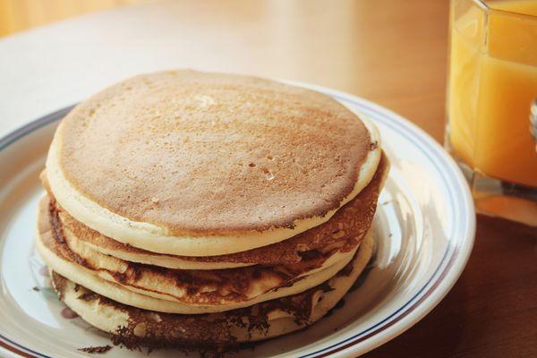 stack of plain pancakes