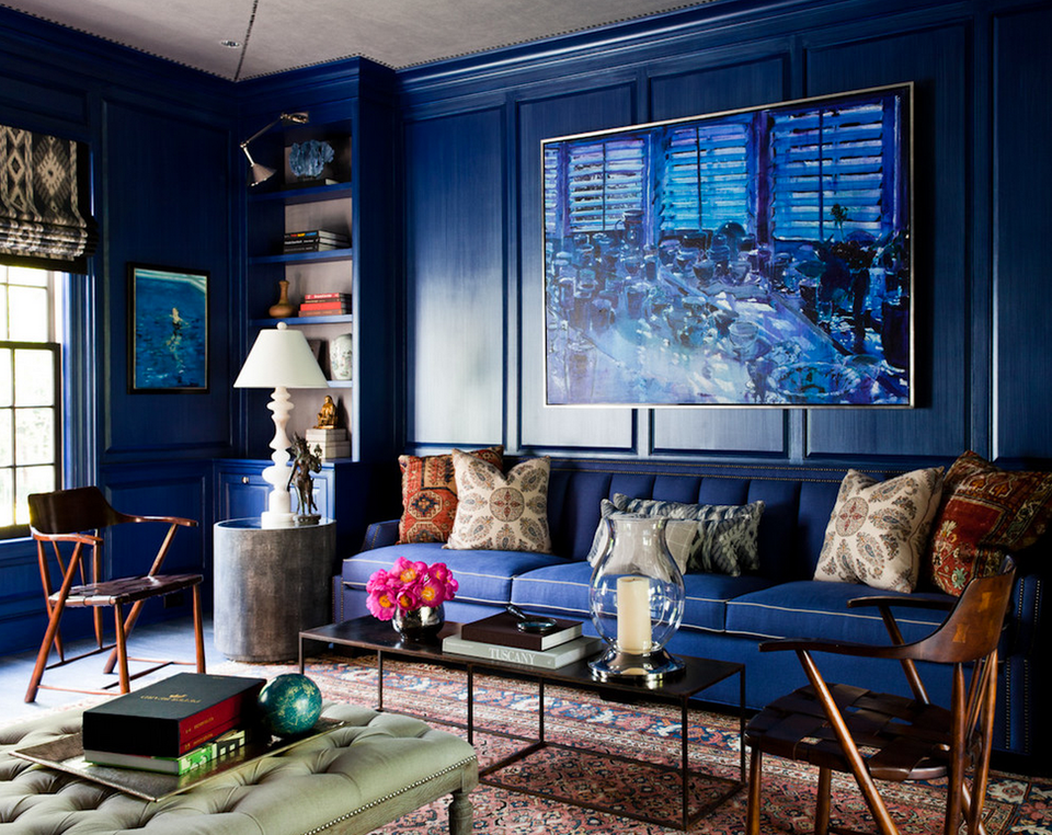 dark blue living rooms blue living room ideas 16723