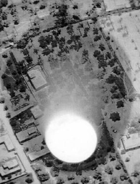 This is a photo of a Chinese test of a neutron bomb.