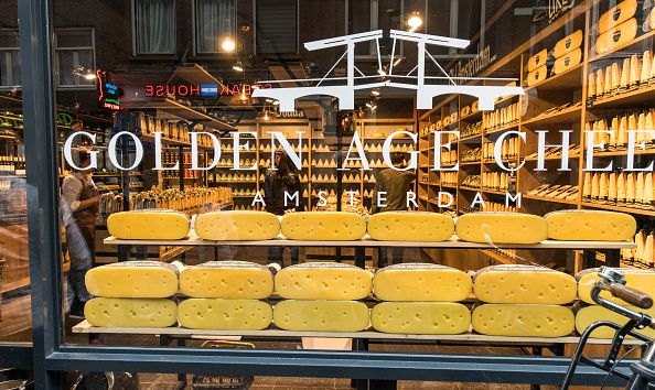 Amsterdam cheese shop front window