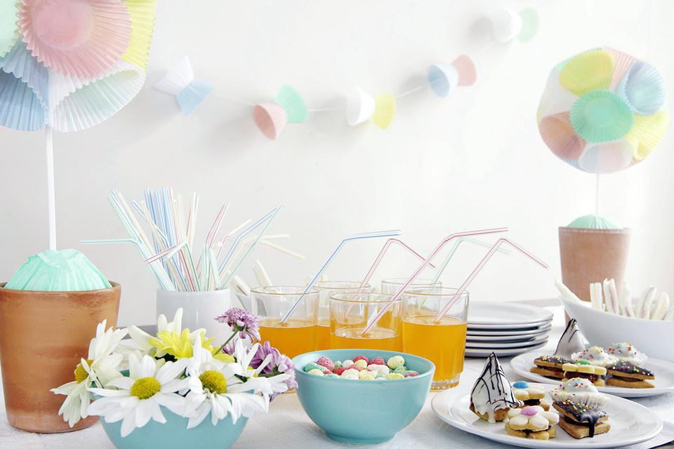 Table setting and decoration suitable for a child