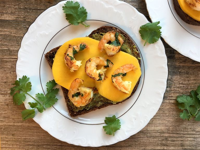 Shrimp Topped Avocado Toast