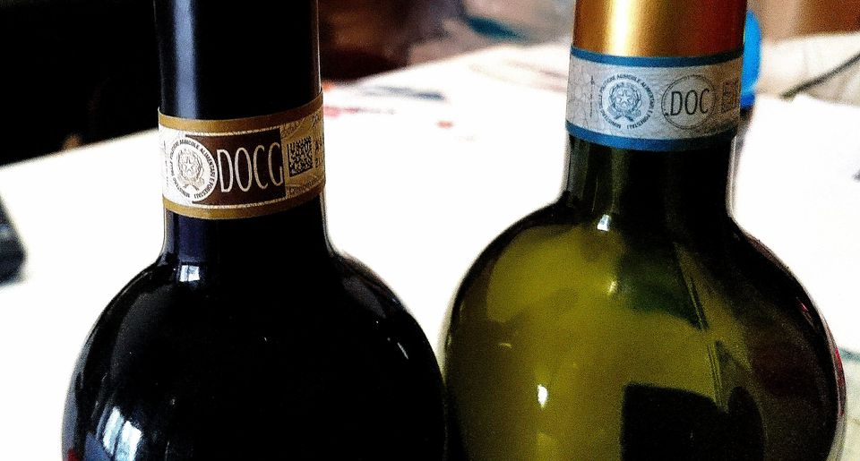 DOCG and DOC wine labels