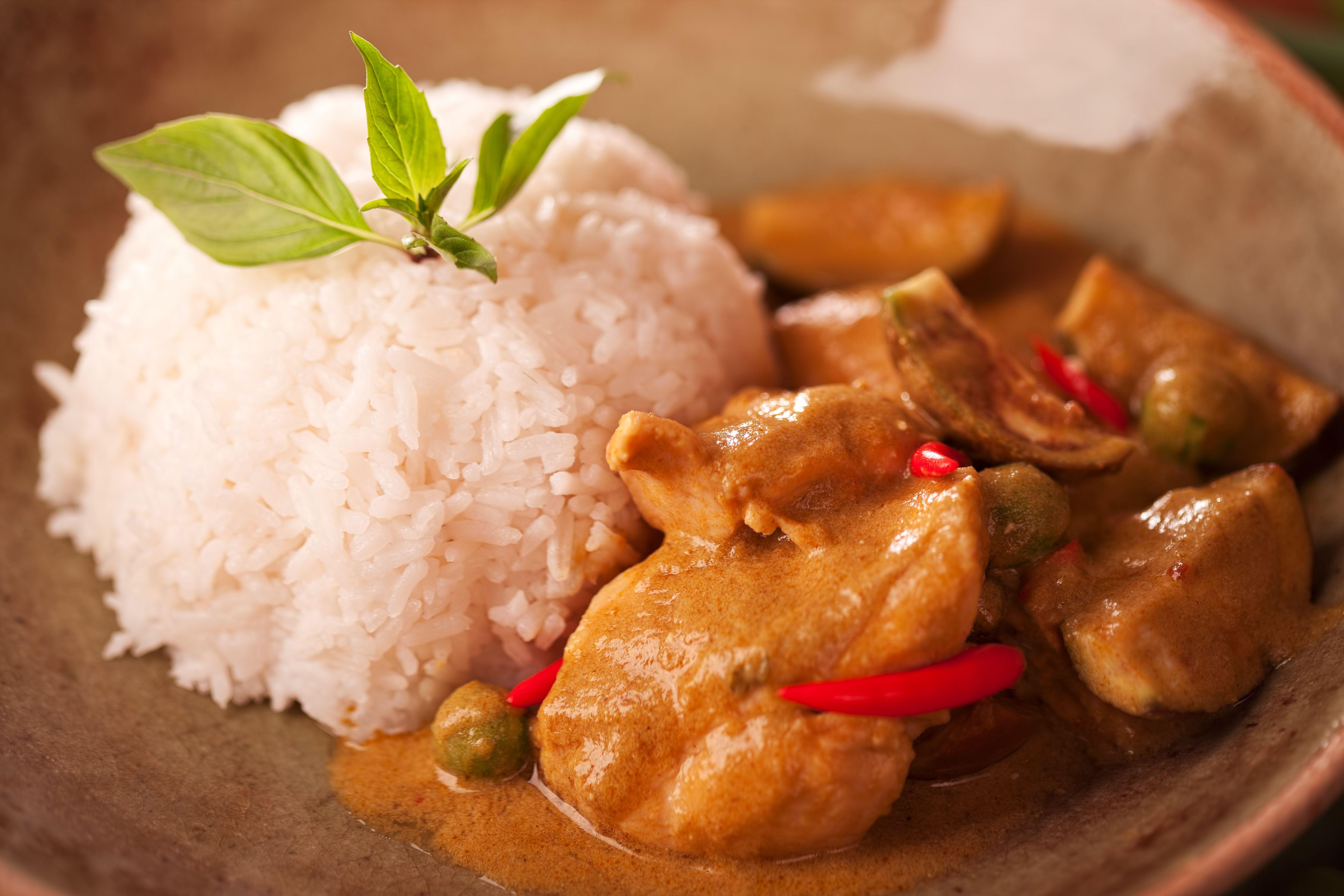 Thai Curry Chicken With Jasmine Rice Recipe