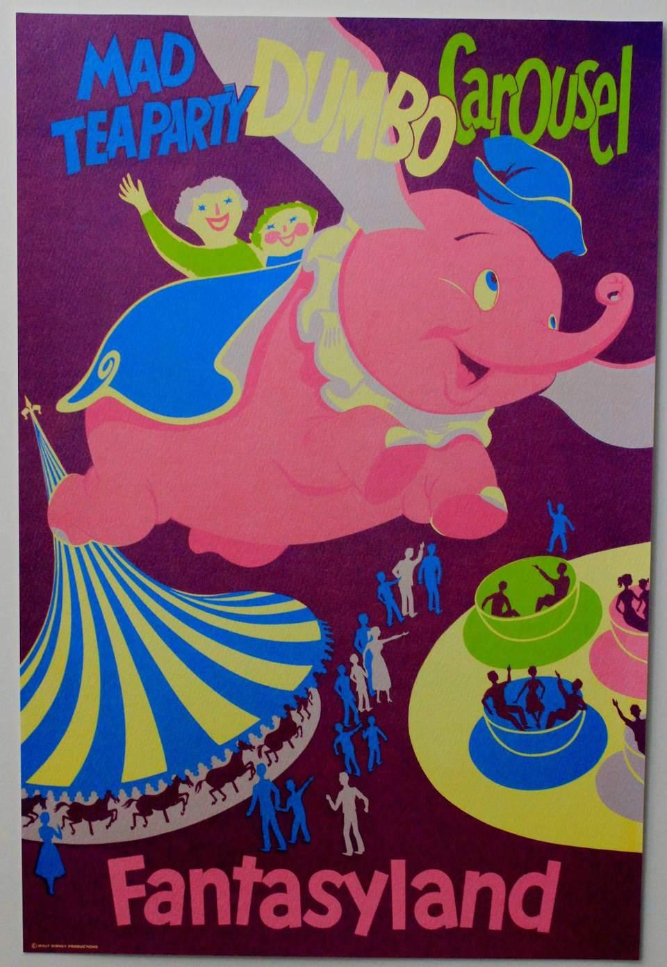 Fantasyland Vintage Poster - Disneyland