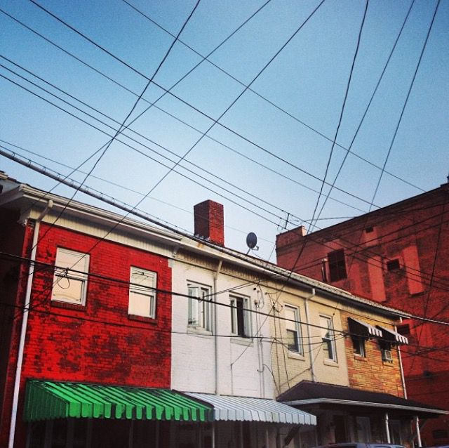 Row houses in Pittsburgh's Bloomfield neighborhood.