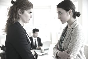 Manager engaging with an employee over a difficult topic