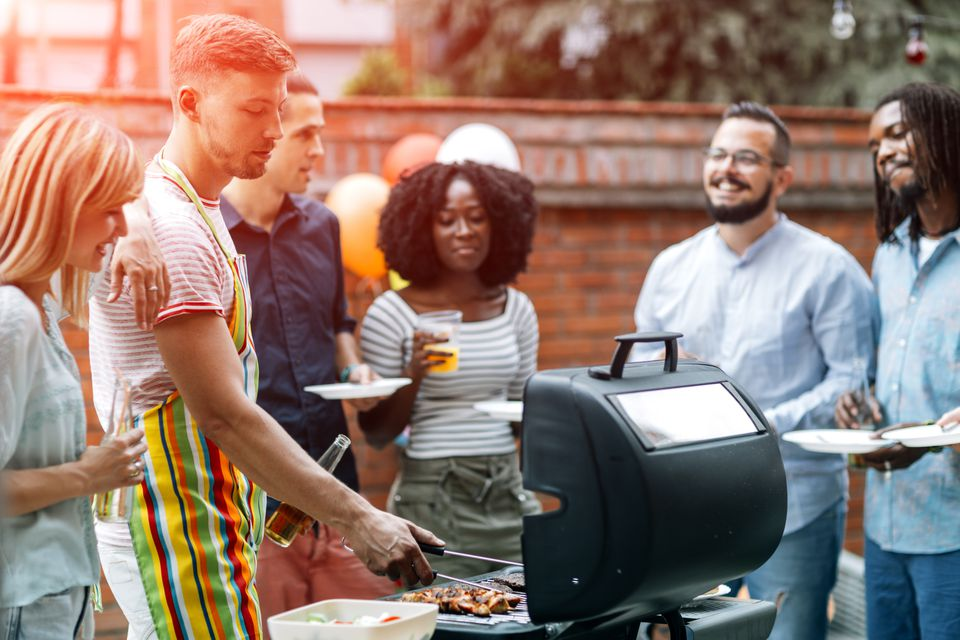 young people at a bbq