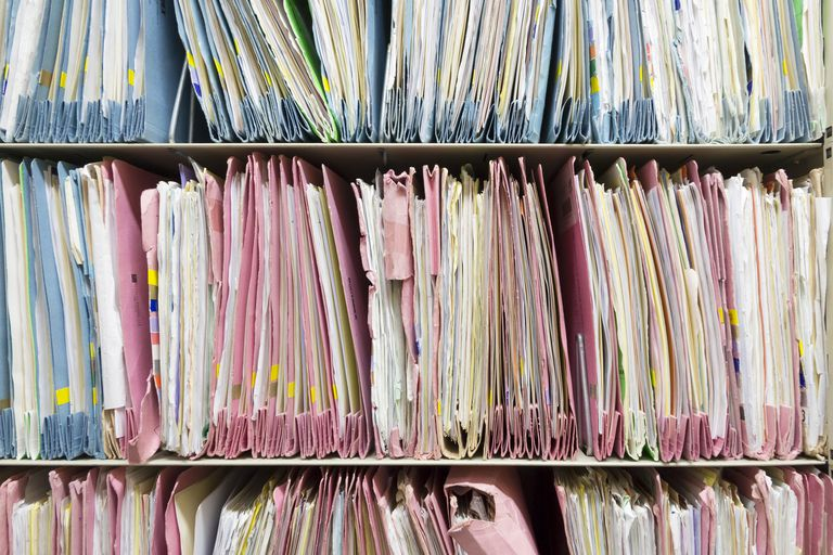Photo of patient records