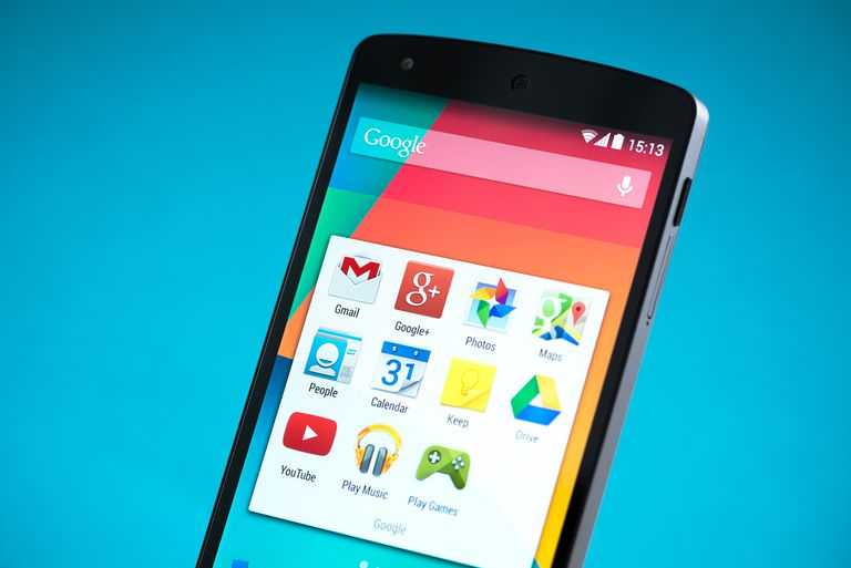 Close-up shot of brand new Google Nexus 5