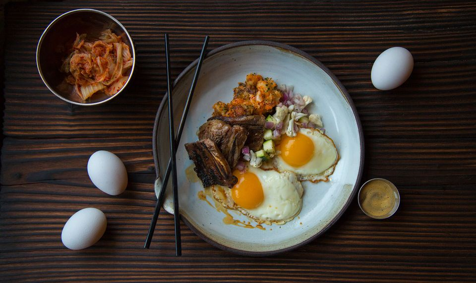 Mott Street, located in trendy Wicker Park, offers a Korean-inspired  version of steak and eggs during brunch. Monica Kass Rogers