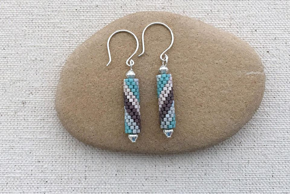 wrap make style easy bead earrings brick stitch chan beaded wire beading now to luu and brickstitchwithchainearrings