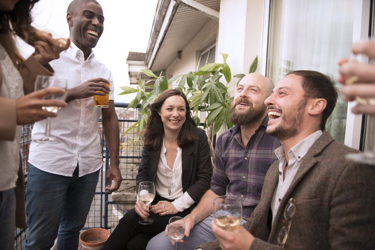 young adults at party