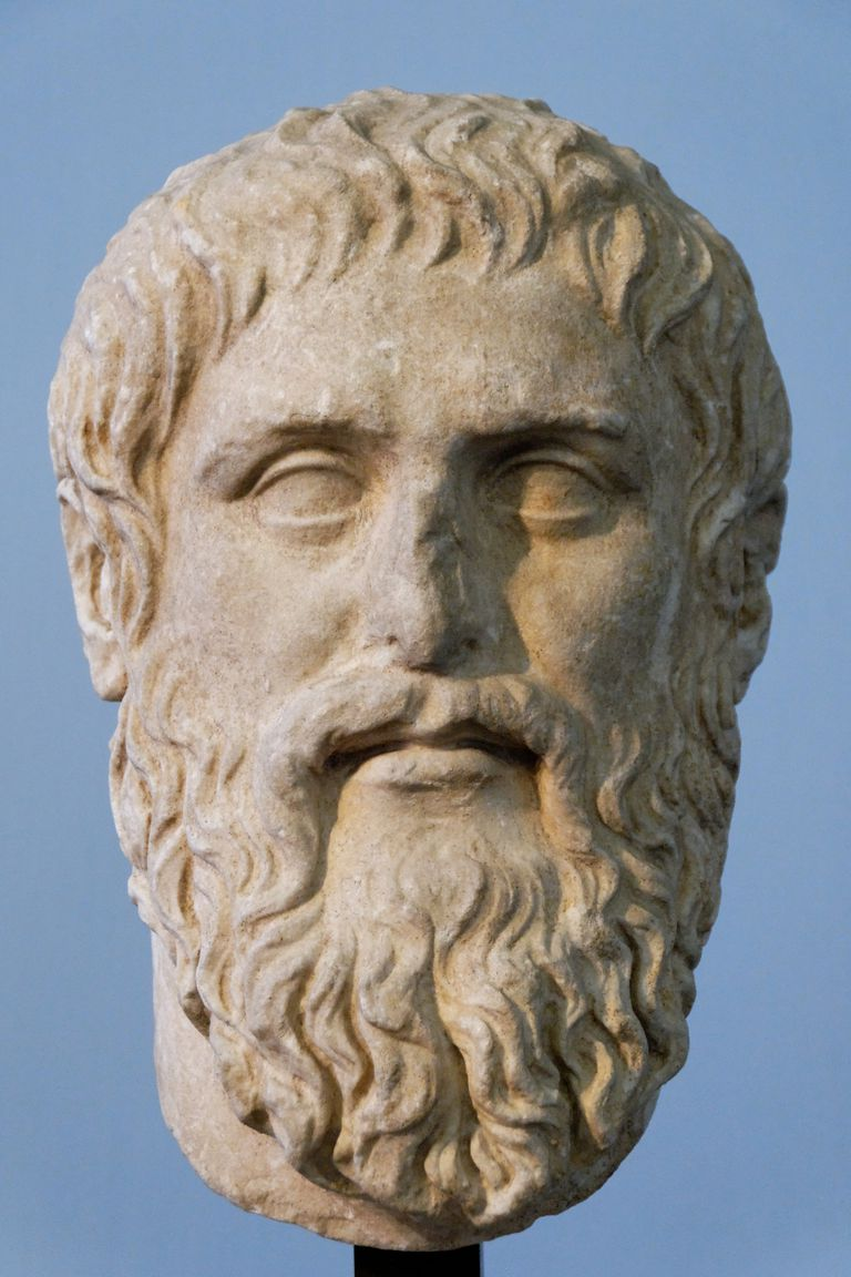 Plato. Luni marble, copy of the portrait made by Silanion ca. 370 BC for the Academia in Athens. From the sacred area in Largo Argentina.