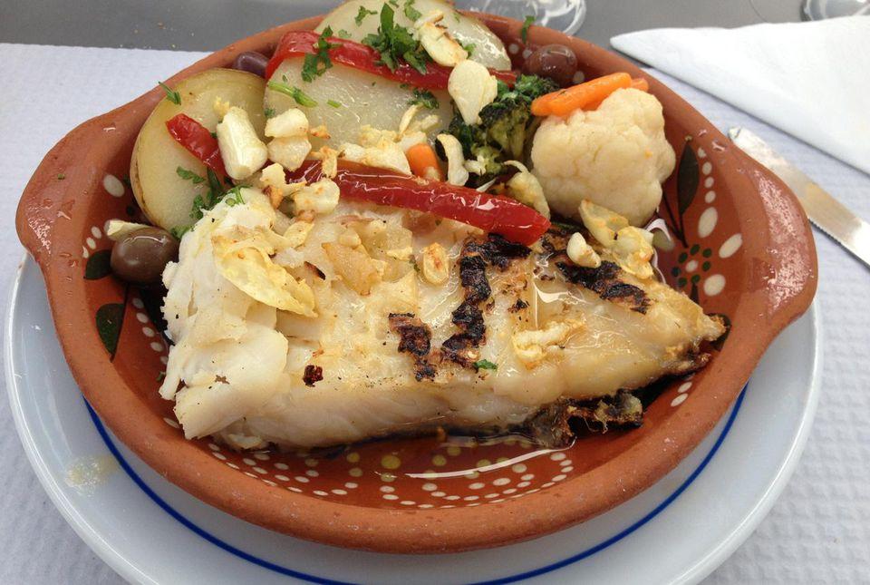 Classic Azorean style cod fish