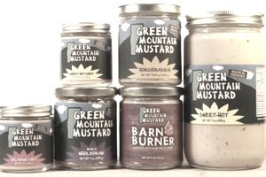 Green Mountain Mustard, found in over 100 retailers across New England.