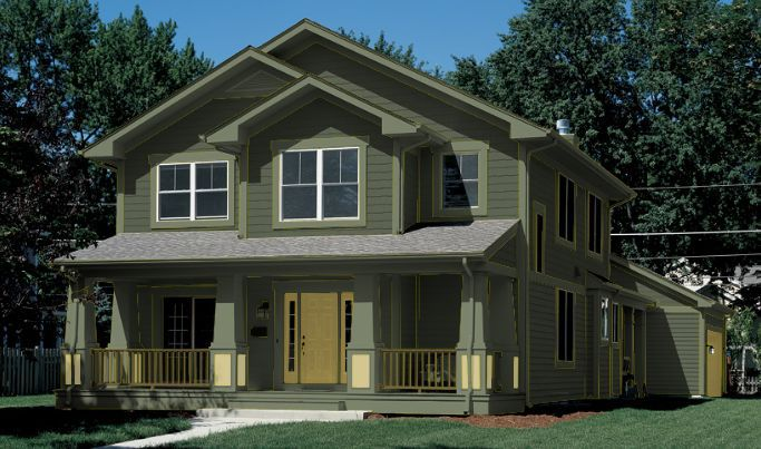 Green-Exterior-House-Paint. Dark Green House Paint Color