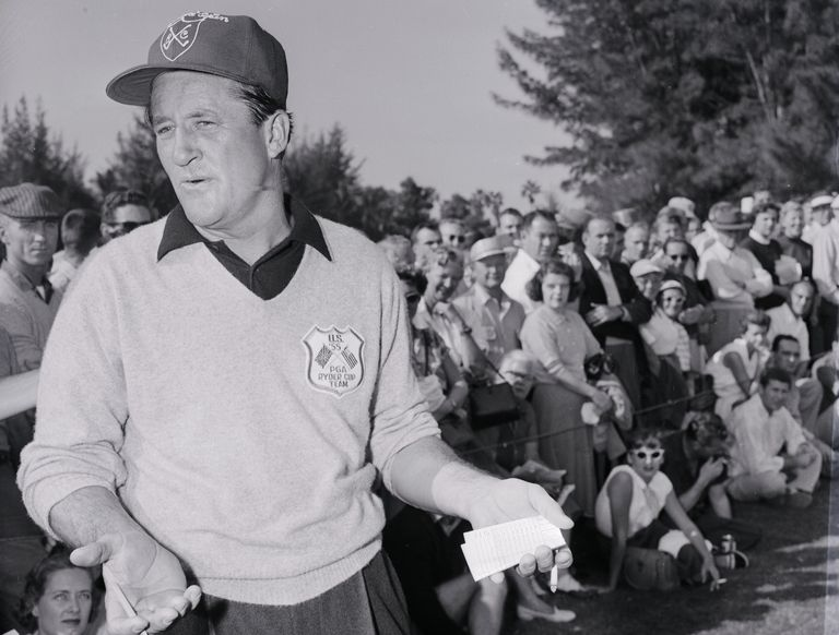 Golfer Tommy Bolt in 1955