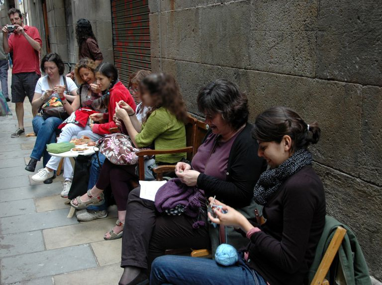 Día Mundial de Tejer en Público. All You Knit Is Love, Barcelona 11 de junio de 2011