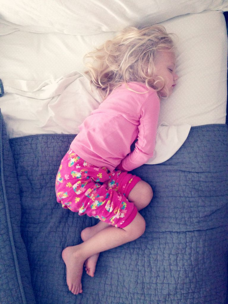 young child in bed