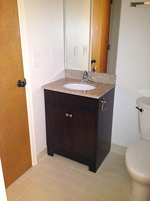 Finished Vanity Installation  bathroom vanityHow to Replace and Install a Bathroom Vanity. Installing Bathroom Vanity. Home Design Ideas