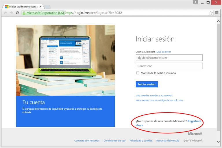 Crear Windows Live ID
