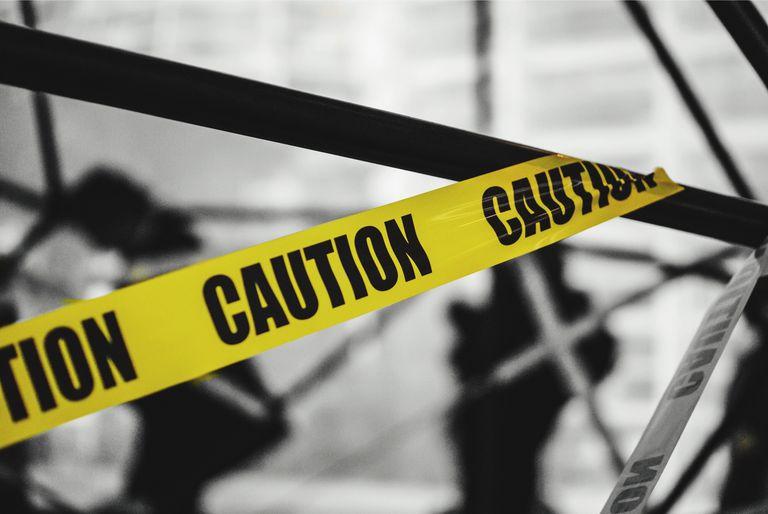 Close-Up Of Warning Sign