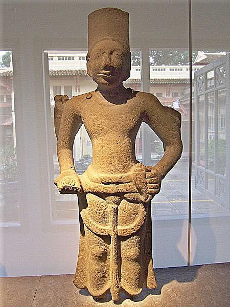 Statue of Hindu god Vishnu, discovered at Oc Eo, Vietnam and dated to the 6th-7th century AD.
