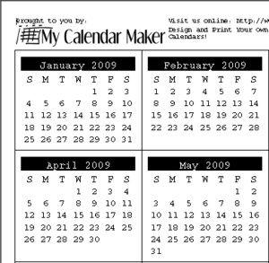 printable schedule maker