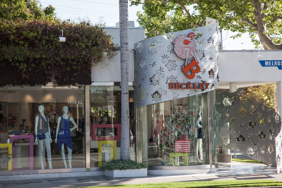 Beckley's Boutique on Melrose Ave in West Hollywood