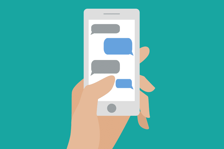 Illustration of cellphone texting