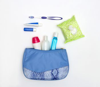 how to carry toiletries on an airplane