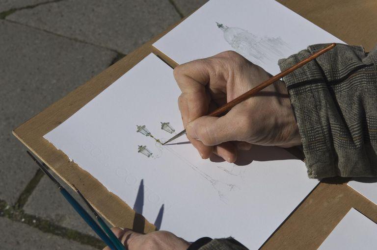 Illustrator in Venice, Italy