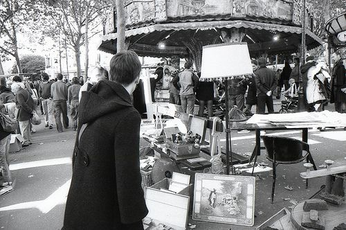 The Batignolles flea market is a popular local attraction in the 17th arrondissement of Paris.