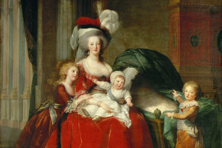 Marie Antoinette with her children