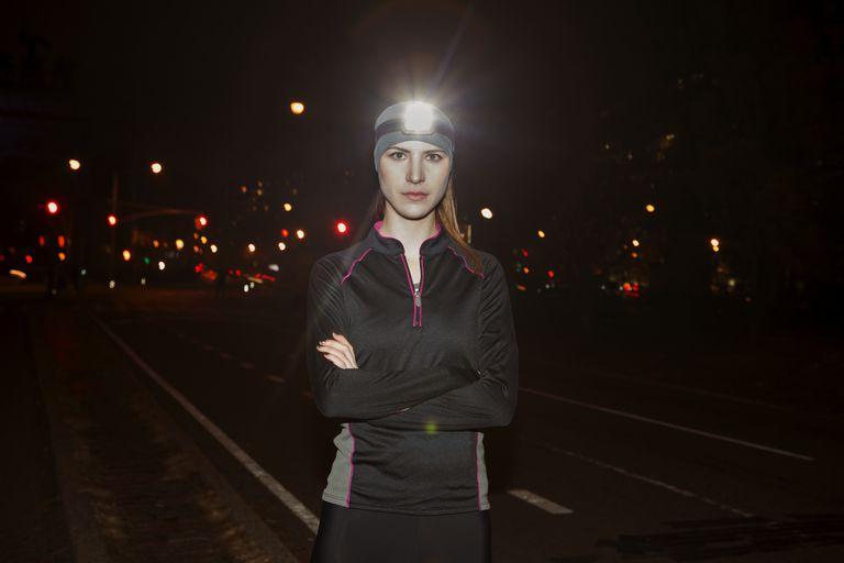 Runner with Headlamp