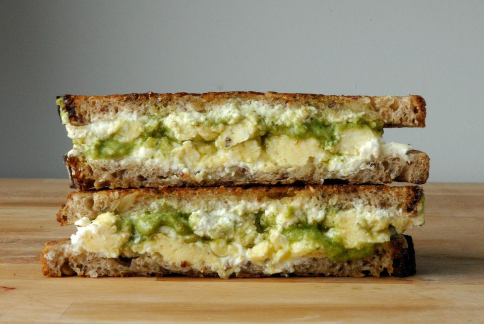 arugula-pesto-grilled-cheese-with-scrambled-eggs-and-goat-cheese.JPG