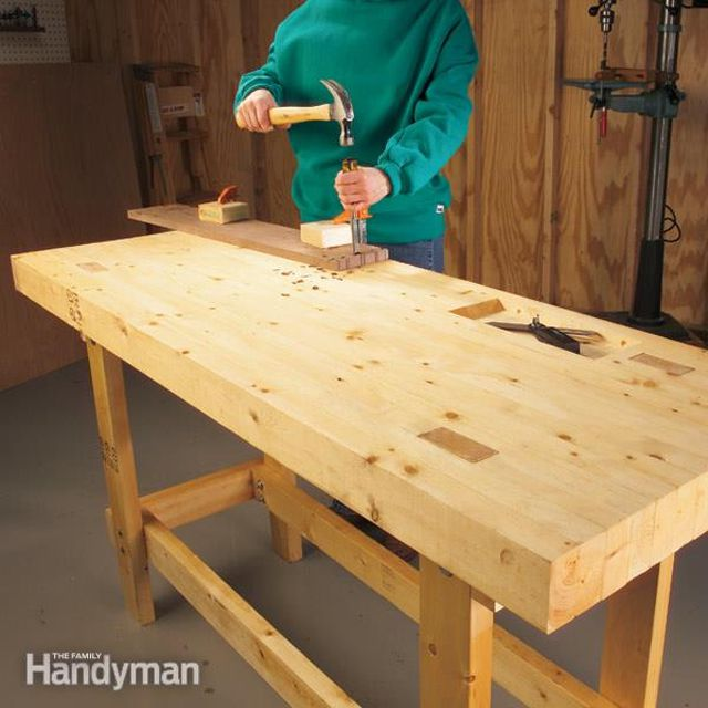 Budget Workbench Plan from The Family Handyman17 Free Workbench Plans and DIY Designs. Free Plans Building Wood Workbench. Home Design Ideas