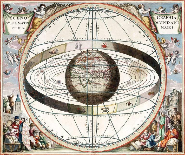 Atlas zodiacal (Harmonia Macrocosmica) de Andreas Cellarius (1661)