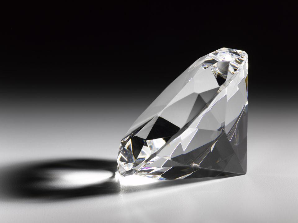 Single large diamond, close-up (still life)
