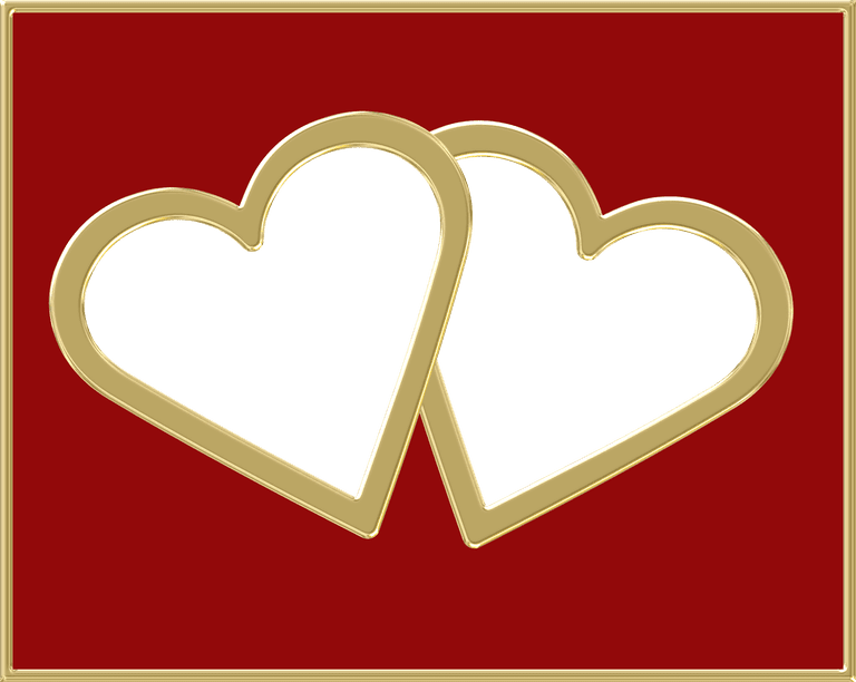 red and gold heart frame - Heart Frame