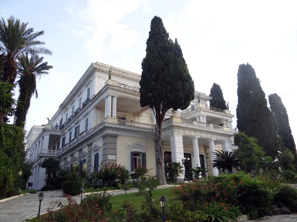Achilleion Palace in Corfu, Greece