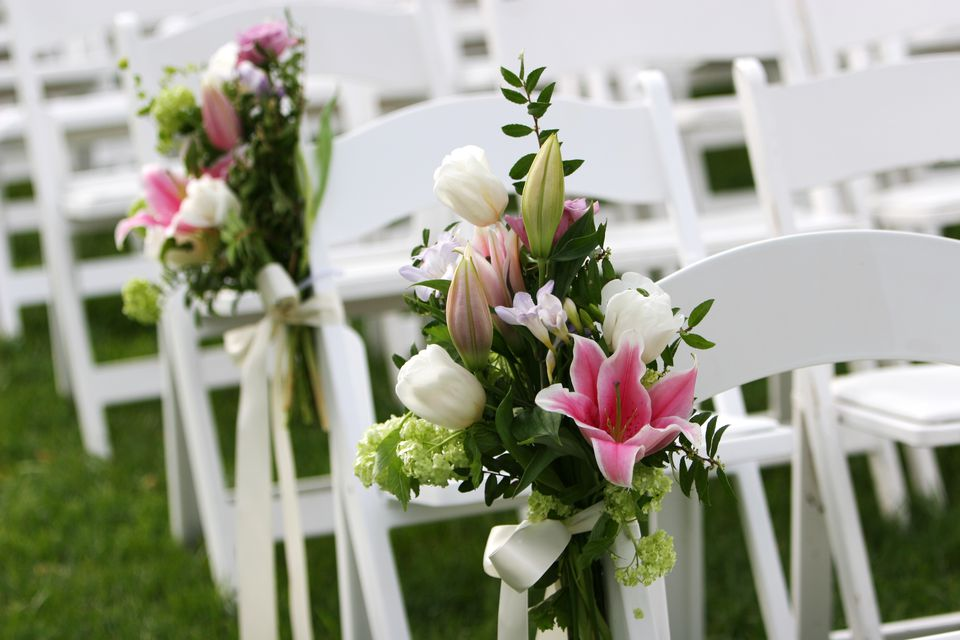 Garden Wedding Scene at Outdoor Ceremony