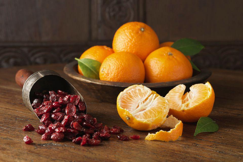 orange and cranberry